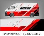 company car wrap. wrap design... | Shutterstock .eps vector #1253736319