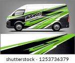 company car wrap. wrap design... | Shutterstock .eps vector #1253736379