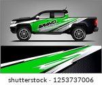 truck wrap design. wrap ... | Shutterstock .eps vector #1253737006