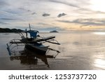 boat on the beach in coron ... | Shutterstock . vector #1253737720
