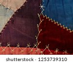 Crazy Quilt Fabric Pattern And...