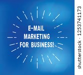 text sign showing e mail... | Shutterstock . vector #1253741173