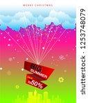 big summer sale paper art... | Shutterstock .eps vector #1253748079