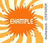 text sign showing example.... | Shutterstock . vector #1253763529