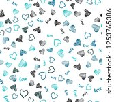 dark blue vector seamless... | Shutterstock .eps vector #1253765386