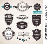 vector set of retro labels ... | Shutterstock .eps vector #125376764