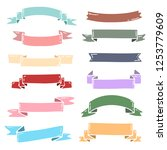 ribbons vector collection with...   Shutterstock .eps vector #1253779609