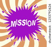 handwriting text mission.... | Shutterstock . vector #1253792626