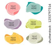 colorful banner text with... | Shutterstock .eps vector #1253797516