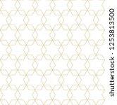 gold line pattern vector.... | Shutterstock .eps vector #1253813500