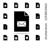 the envelope on document icon....