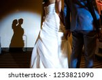the shadow of the bride and... | Shutterstock . vector #1253821090