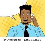 pop art african american...   Shutterstock .eps vector #1253823619