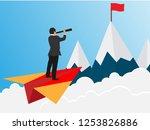 business success concept.... | Shutterstock .eps vector #1253826886