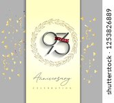 93 years anniversary... | Shutterstock .eps vector #1253826889