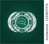 speech bubble icon drawn on a...   Shutterstock .eps vector #1253837476