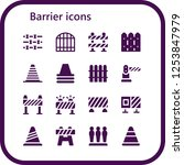 vector icons pack of 16 filled... | Shutterstock .eps vector #1253847979