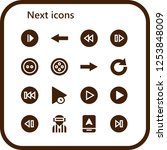vector icons pack of 16 filled...   Shutterstock .eps vector #1253848009