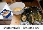 stuffed green chile peppers ... | Shutterstock . vector #1253851429