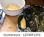 stuffed green chile peppers ... | Shutterstock . vector #1253851453