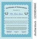 light blue certificate template ...   Shutterstock .eps vector #1253854840