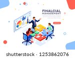 project management financial... | Shutterstock .eps vector #1253862076