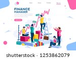 finance and engineering graph... | Shutterstock .eps vector #1253862079