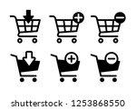 shopping cart icons set ... | Shutterstock .eps vector #1253868550