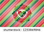 heart with electrocardiogram... | Shutterstock .eps vector #1253869846
