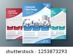 corporate flyer design template ...   Shutterstock .eps vector #1253873293