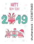 cute card design with cartoon...   Shutterstock .eps vector #1253873683