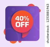 40  off discount tag. vector...   Shutterstock .eps vector #1253881963