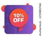 10  off discount tag. vector...   Shutterstock .eps vector #1253881966