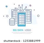big data icon. flat design....   Shutterstock .eps vector #1253881999