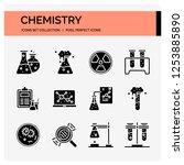chemistry icons set. ui pixel...