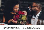 african american couple dating... | Shutterstock . vector #1253890129