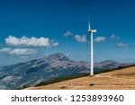 wind turbine on the top of a... | Shutterstock . vector #1253893960