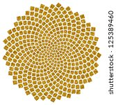 sunflower seeds   golden ratio ... | Shutterstock . vector #125389460