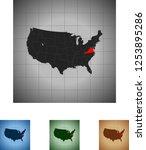 map of virginia   Shutterstock .eps vector #1253895286