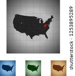 map of west virginia   Shutterstock .eps vector #1253895289