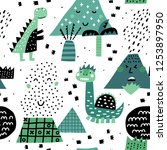 cute seamless pattern with... | Shutterstock .eps vector #1253897950