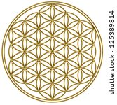 flower of life   gold   flower... | Shutterstock . vector #125389814