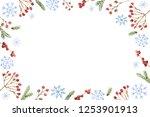 watercolor christmas banner... | Shutterstock . vector #1253901913