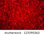 Stock photo background of beautiful red rose petals 125390363