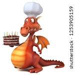 fun dragon   3d illustration | Shutterstock . vector #1253905159