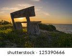 kangaroo island coast park bench | Shutterstock . vector #125390666