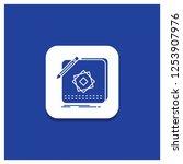 blue round button for design ...