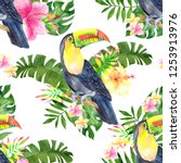 seamless pattern with... | Shutterstock . vector #1253913976