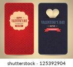 happy valentine's day vector... | Shutterstock .eps vector #125392904