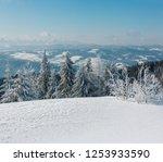 winter calm mountain landscape...   Shutterstock . vector #1253933590